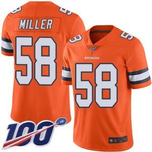Broncos Von Miller 100th Season Jersey 4
